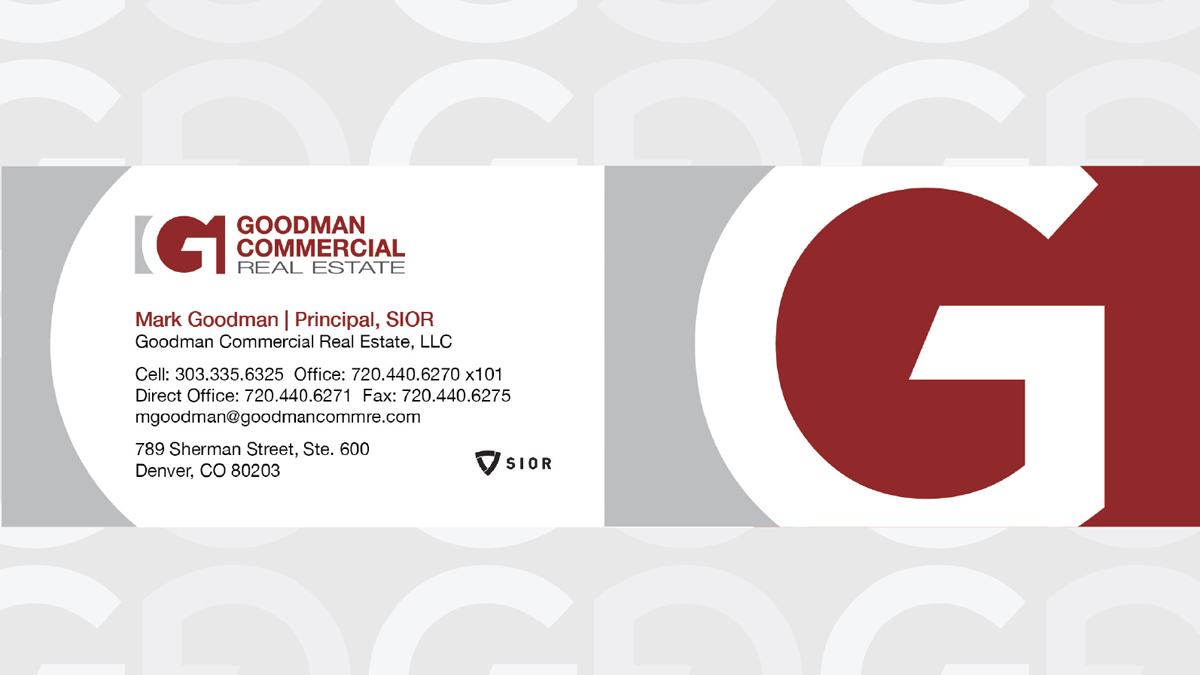 Offline Marketing Portfolio Goodman Commercial Biz Cards