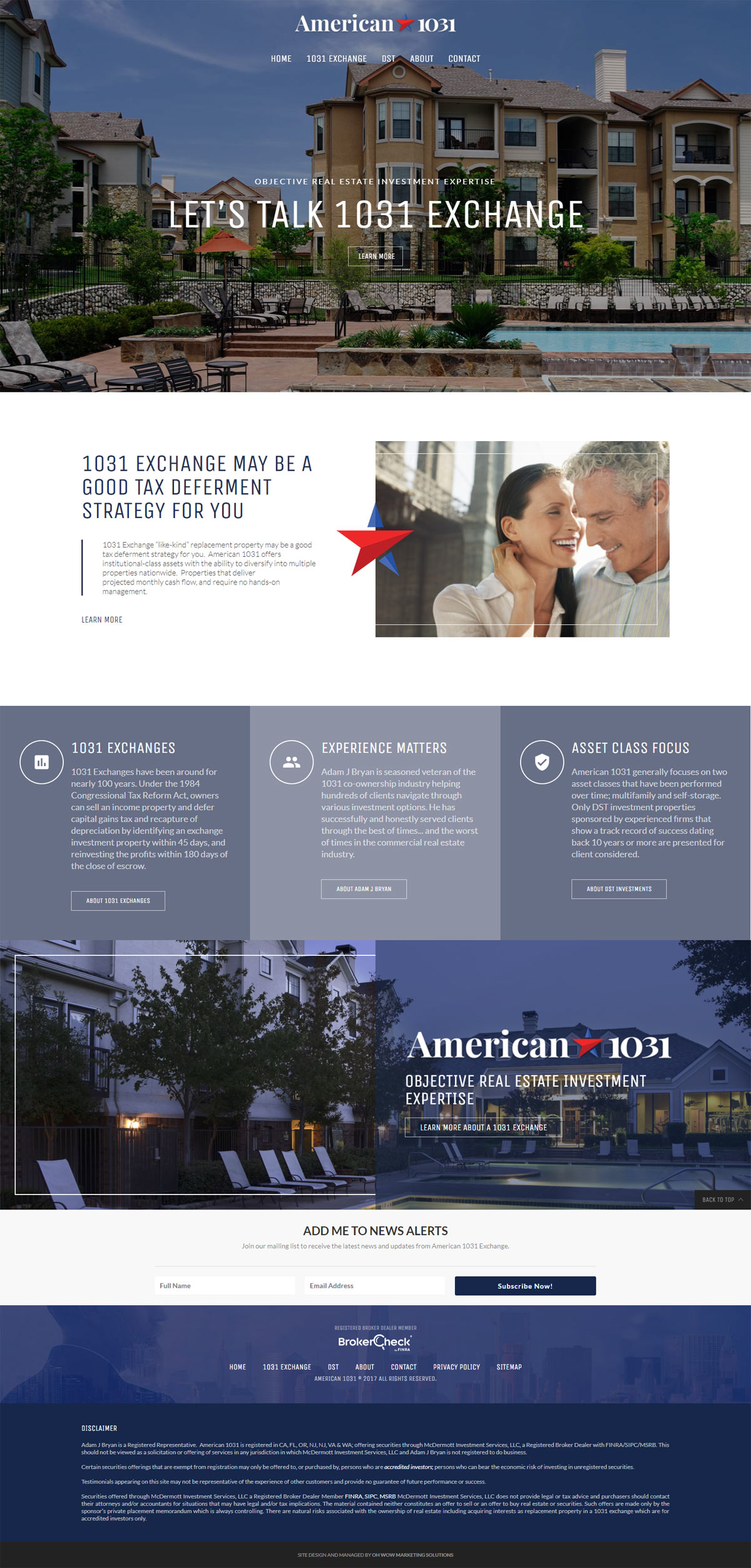 American 1031 Website Designe