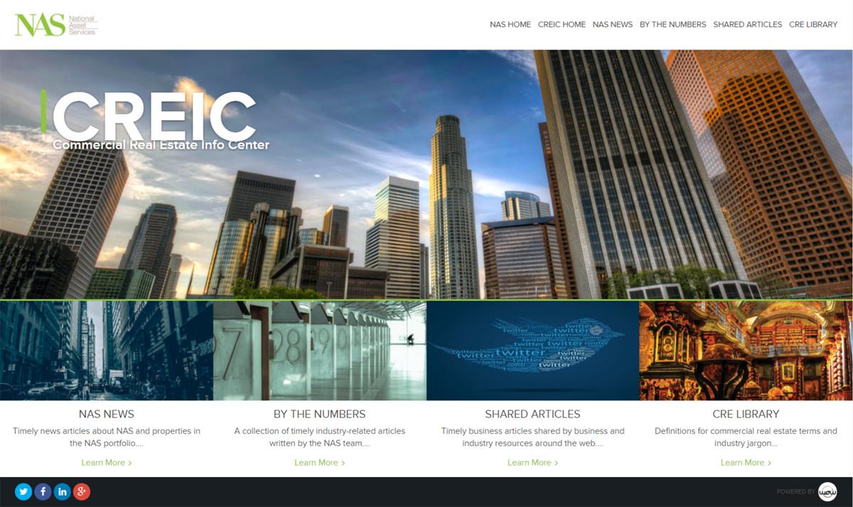 Commercial Real Estate Info Center Website Design