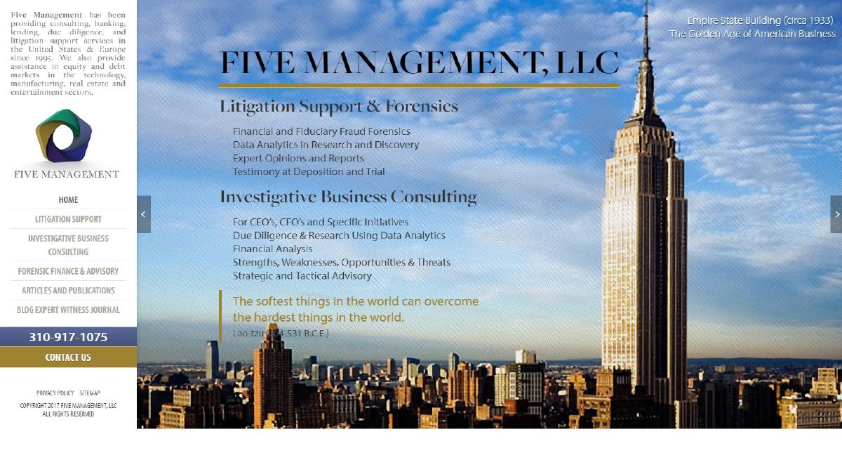Five Management Website Design