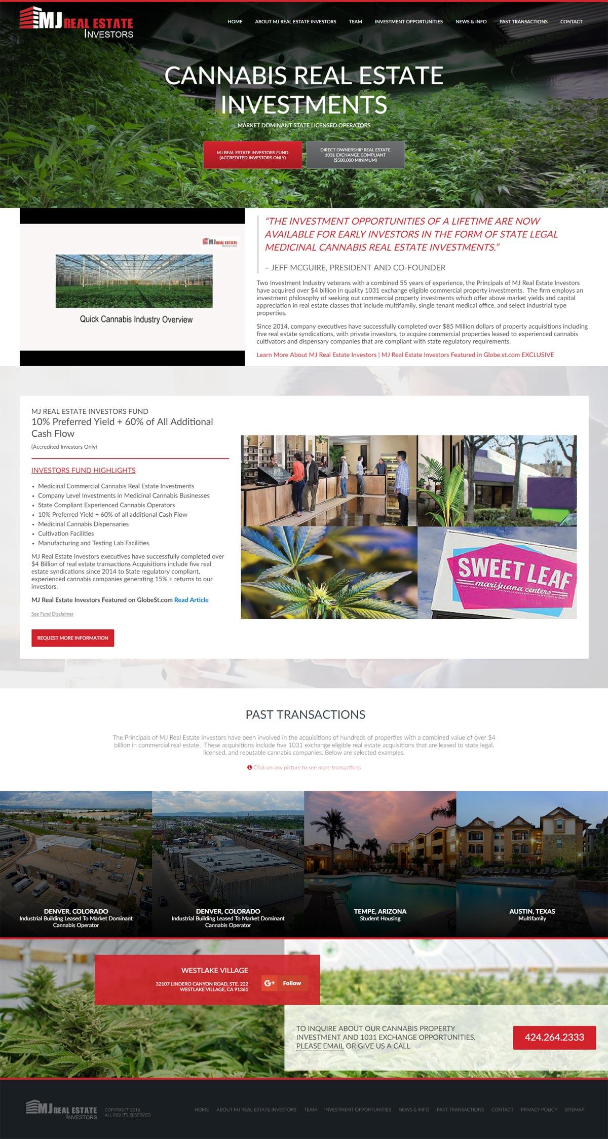 MJ Real Estate Investments Website Design