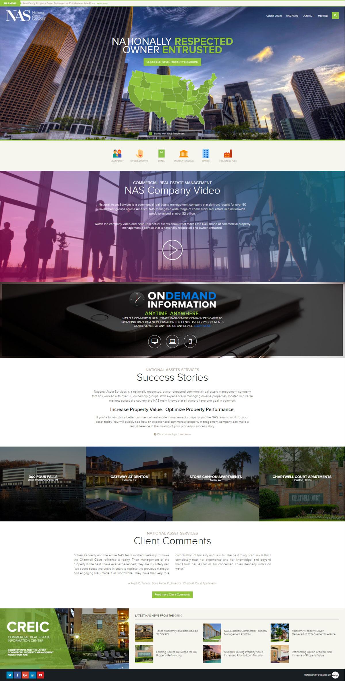 National Asset Services Website Design