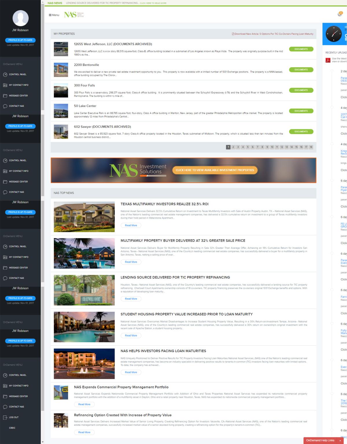 OnDemand Client Private Portal Website Design