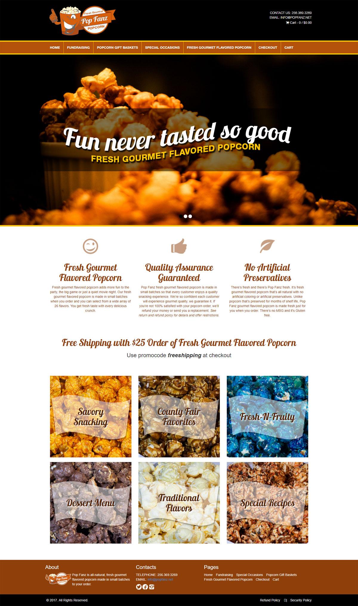 PopFanz Website Design